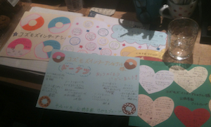 Thank you notes from Kyoto Japan orphanages after Kozmoz Internship participants deliver donations